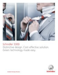 Schindler Ceilings For hydraulic and traction elevators