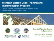 Building Energy Codes Program Commercial Program Review