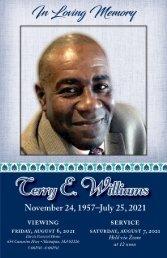 Terry Williams Memorial Program
