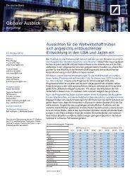 Globaler Ausblick 2013/14 - Deutsche Bank