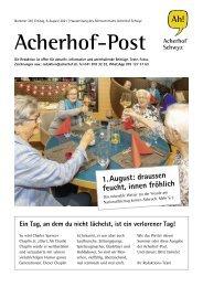 Acherhof-Post Nr. 28   6. August 2021