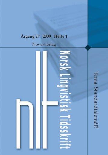 2009 - Sosiologi i dag - Novus AS
