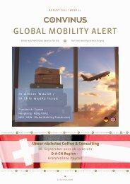 CONVINUS Global Mobility Alert - Week 31