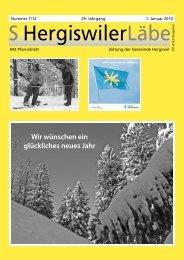 01.01.2010- S Hergiswiler Läbe online - Peter Helfenstein