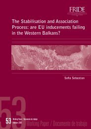 are EU inducements failing in the Western Balkans? - FRIDE ...