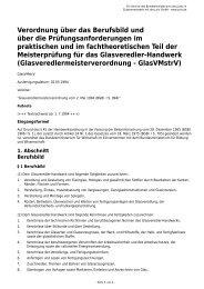 Verordnung über das Berufsbild und über die ... - Gesetze im Internet