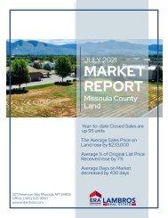 Missoula County Land July 2021