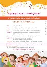 SINGEN MACHT FREUNDE - 1. Waltershofener Kinder-Chortag