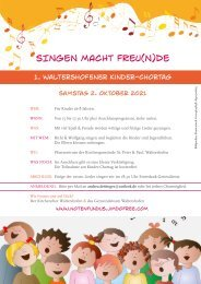 SINGEN MACHT FREUNDE_online