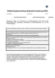 Gefährdungsbeurteilung Nadelstichverletzung (NSV)