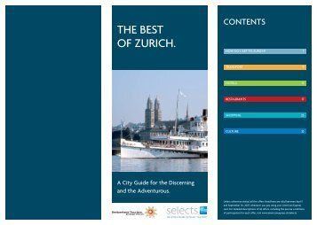 THE BEST OF ZURICH. - American Express