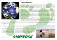Ekologická stopa - Greenpeace