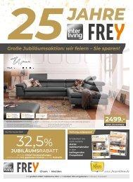 Interliving FREY - 25 Jahre Jubiläums-Prospekt - KW32 - Vollsortiment+Massivholz+Trends