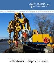 GLU - Geotechnis - range of services