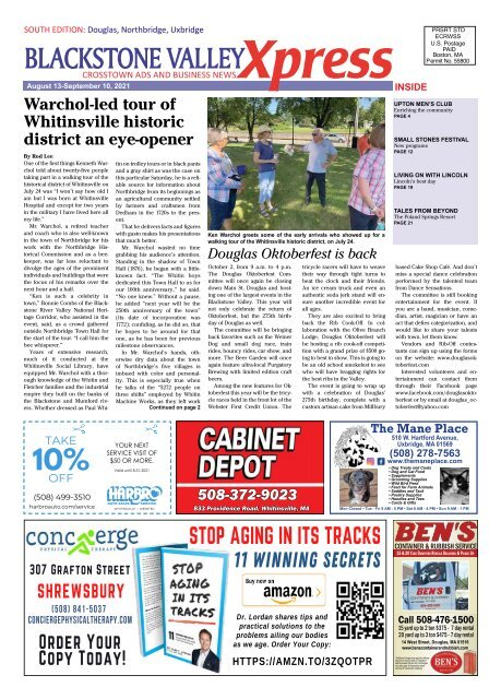 Blackstone Valley Xpress August 13, 2021