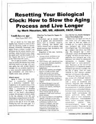 Resetting your biological clock - SpectraCell Laboratories