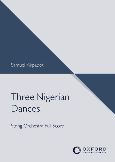 Samuel Akpabot - Three Nigerian Dances