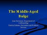 The Middle Age Bulge