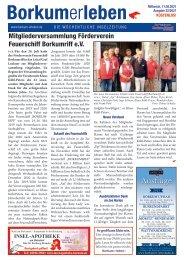 11.08.2021 / Borkumerleben - Die wöchentliche Inselzeitung
