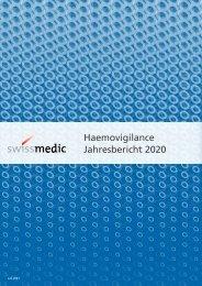 Swissmedic Haemovigilance Jahresbericht 2020