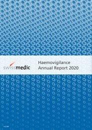 Swissmedic Haemovigilance Annual Report 2020
