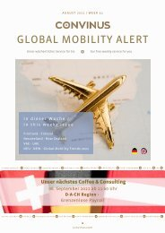 CONVINUS Global Mobility Alert Week 32
