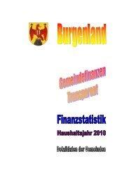 Gemeindefinanzstatistik 2010 () - Burgenland.at