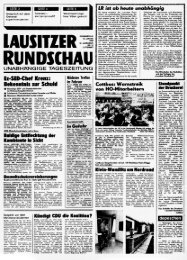 LAUSITZER RUNDSCHAU Titelseit 18. Januar 1990
