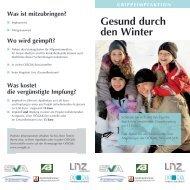 Gesund durch den Winter - Forum Gesundheit