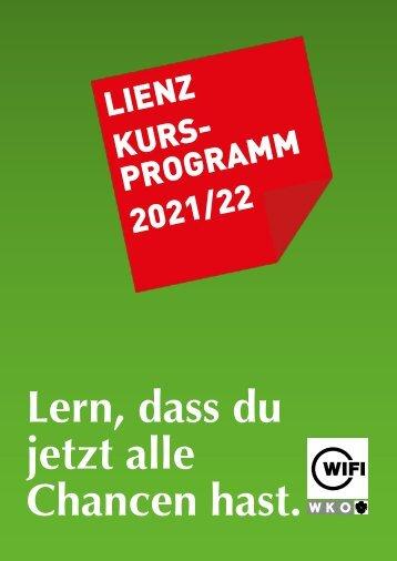 WIFI Lienz Kursprogramm 2021/22