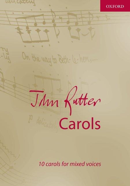 John Rutter Carols Mixed Voices