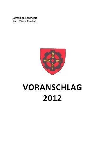 VA Entwurf 2012 - Gemeinde Eggendorf