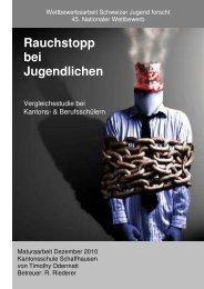Rauchstopp bei Jugendlichen - Krebsliga Schweiz