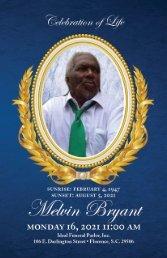 Melvin Bryant Memorial Program