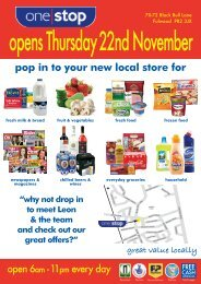pop in to your new local store for - One Stop