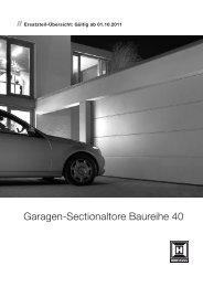 Garagen-Sectionaltore Baureihe 40 - Hörmann KG