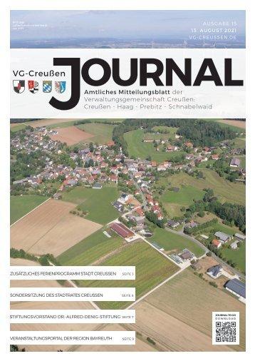 Creußen Journal - Ausgabe 13.08.2021
