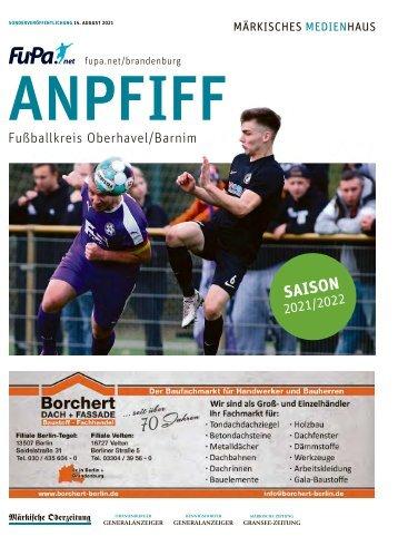 Anpfiff Beilage Saison 2021-2022   Fußballkreis Oberhavel-Barnim