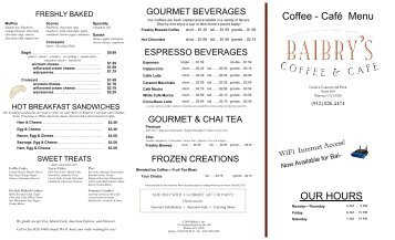 Cancun Cafe And Mexican Grill Menu