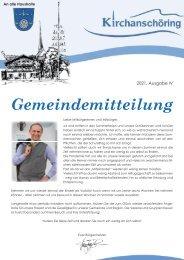 Gemeindemitteilung Kirchanschöring 2021-4