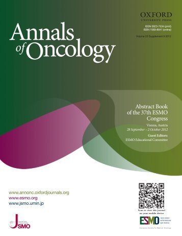 Download the ESMO 2012 Abstract Book - Oxford Journals
