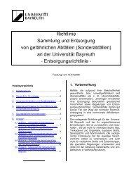 Richtlinie Sammlung und Entsorgung von gefährlichen Abfällen ...