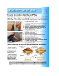 Fitting DB Boards is very straightforward. - Soundproofing insulation