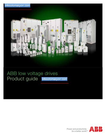 ABB low voltage drives Product guide - Efes otomasyon