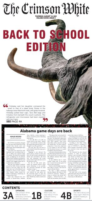 The Crimson White: Back to School Edition, August 2021