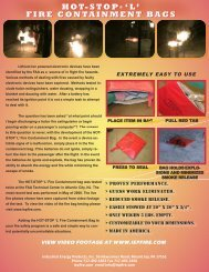 HOT-STOP ® 'L' FIRE CONTAINMENT BAGS - IEP Fire