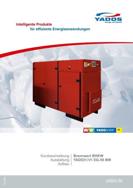 YADOS Brennwert Blockheizkraftwerk / Erdgas BHKW YADO|KWK EG-50 BW