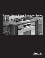 Wall Oven cookbook - Dacor