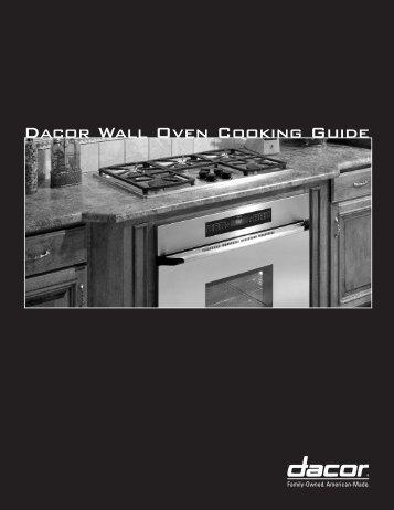 dacor ovens manual