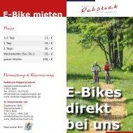 E-Bikes mieten - direkt im Hotel